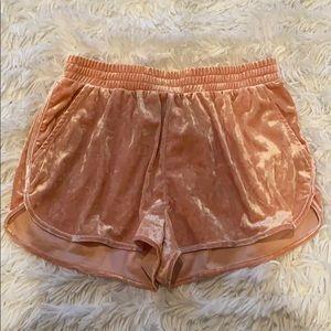 H&M Pink Velvet Shorts